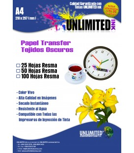Papel transfer I Unlimited Ink para fondos oscuros